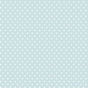 Light Blue with White Dots