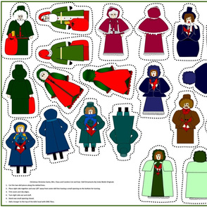 Christmas Victorian Cut and Sew Doll Ornaments Group
