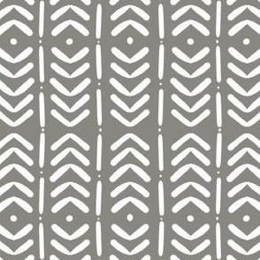 Grey and White Mudcloth