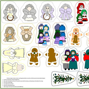 Christmas Cut and Sew Doll Ornaments Group3
