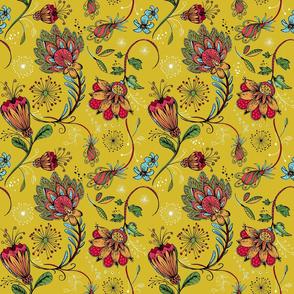 Yellow Fantasy Chintz