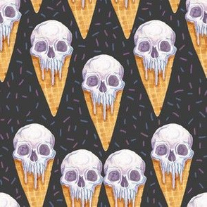 Skull Ice Cream Cones Small Scale