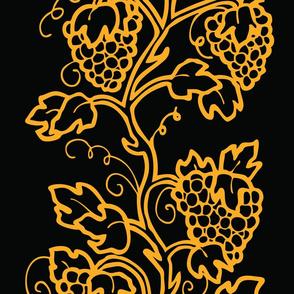 Grapevine Gold on Black