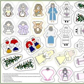 Christmas Angels Cut and Sew Doll Ornaments Group