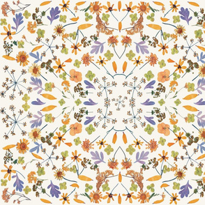 kaleidoscope orange and grey