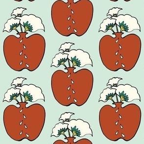 Apple Vase in red