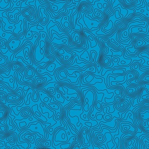 Topographic Map - Seamless - Blue