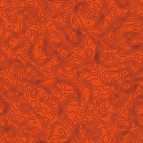 Topographic Map - Seamless - Orange