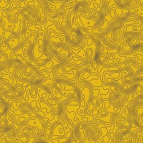 Topo Map - Seamless - Yellow