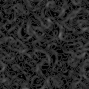 Topographic Map -Seamless - Black