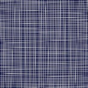 Blue White Lines - Rosella Garden