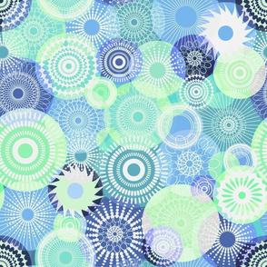 Kooky Kaleidoscope blue green