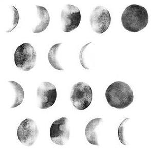 Moon phase white