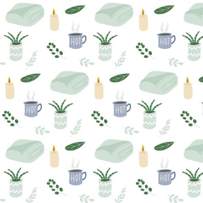 Pastel Green Cozy Pattern