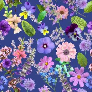 Loose Flower Cuttings Blue