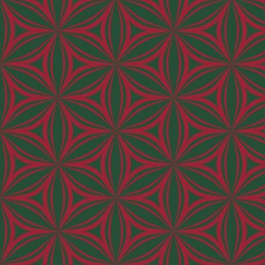Flower popart in green and red