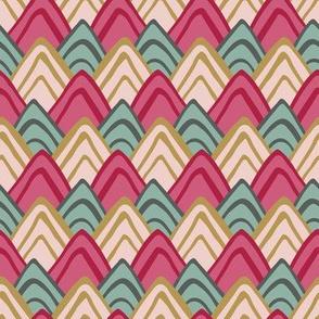 colorful triangle_ fishscale