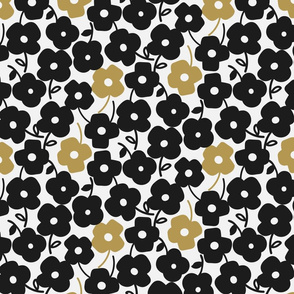 Kelly Flower_3_Large_Black/Ochre