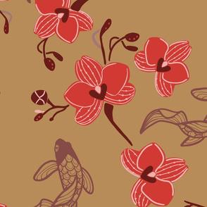 Sherry's Orchids, Dark Oak