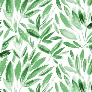 Watercolor greenery ll fresh leaves