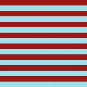 Red Teal Stripes