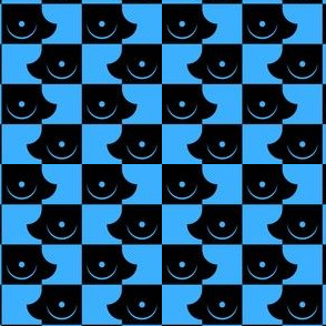 Streapchess_14 | Black and Light Blue