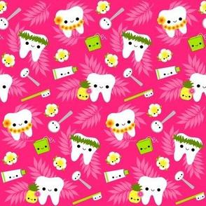 Happy Hawaii Teeth - Pink