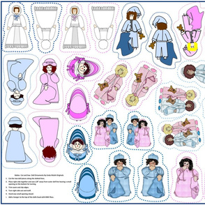 Babies Cut and Sew Doll Ornaments Group2
