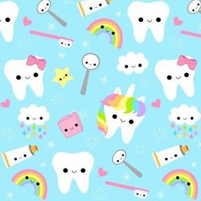 LARGE Happy Unicorn Teeth - Blue