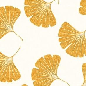 ginkgo leaves - saffron - LAD19