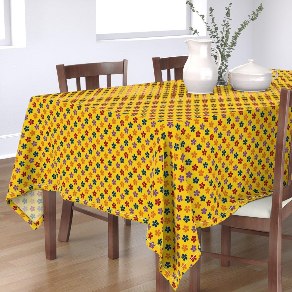 Bantam Rectangular Tablecloth featuring Flowers ~ Yellow by catsinredhats