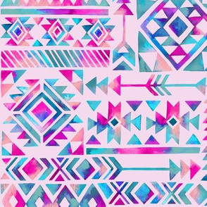 Tribal Summer / Light Pink / Large Scale