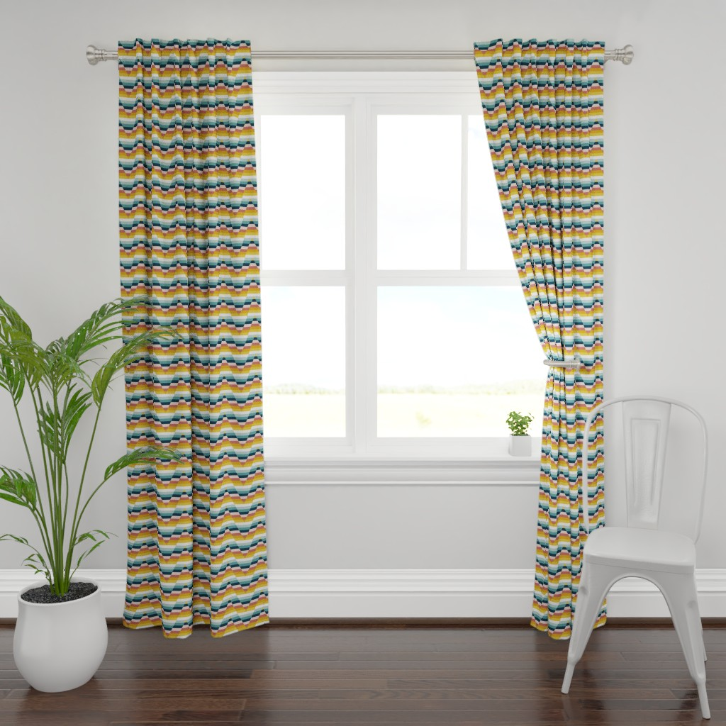 Plymouth Curtain Panel featuring Canopy Chevron // Canopy Company Coordinate by nanshizzle
