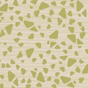 green triangle terrazzo texture