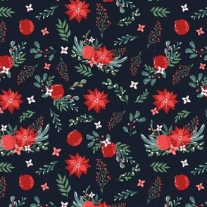 christmas florals pattern