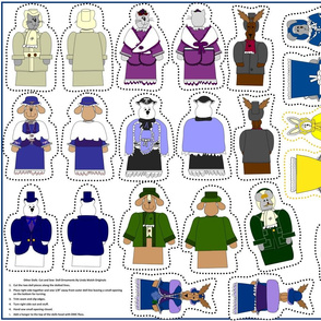 Victorian Animals Dolls Cut and Sew Ornament Group