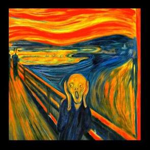 The Scream black border frame