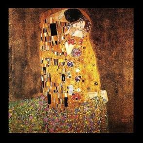 Klimt The Kiss ,  Black  border frame