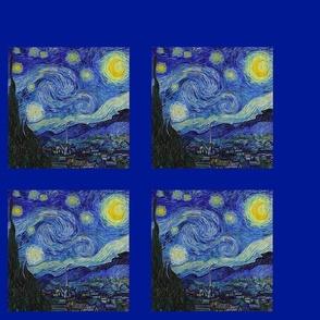 Starry Night,  blue border frame