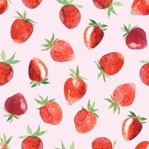 Red Strawberries // Pink