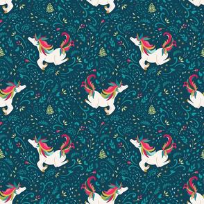 Santa North Christmas Unicorn Wishes
