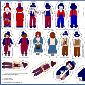 4th of July Dolls Cut and Sew Group