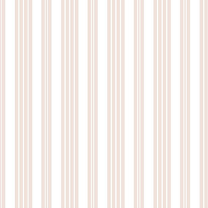 French Ticking ~ Aurore on White