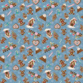 Gingerbread Cookies in glitter