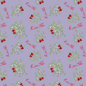 Kiss Me Mistletoe Lilac back