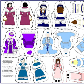 Victorian Faceless Cut and Sew Doll Group2