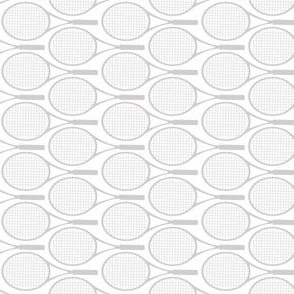 Tennis Racket Gray Pattern