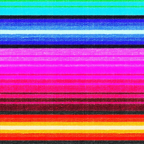 Mexican Blanket Serape Southwest Stripe - large scale -Brights