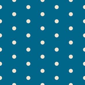 Deep Blue Polka Dots