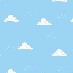 Baby Boy Blue Clouds